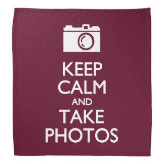 穏やか保ち、写真を撮って下さい バンダナ