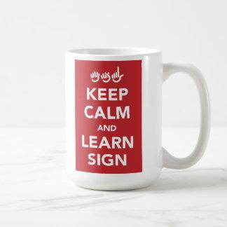 穏やか保ち、印のマグを学んで下さい コーヒーマグカップ