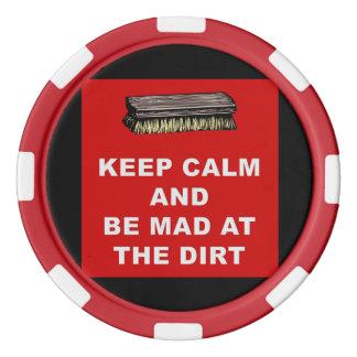 穏やか保ち、土のポーカー用のチップで気違いがあって下さい ポーカーチップ