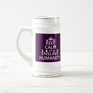 穏やか保ち、奴隷にして下さい人間性(ロボット)を ビールジョッキ