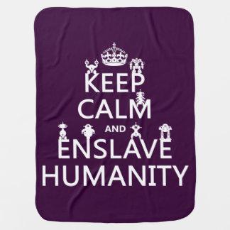 穏やか保ち、奴隷にして下さい人間性(ロボット)を ベビー ブランケット