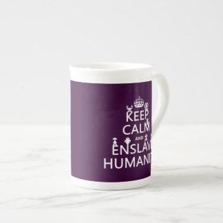 穏やか保ち、奴隷にして下さい人間性(ロボット)を ボーンチャイナカップ