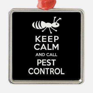 穏やか保ち、害虫駆除をおもしろいな害虫駆除業者と呼んで下さい メタルオーナメント