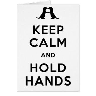 穏やか保ち、握って下さい手(手を握っているカワウソ)を カード