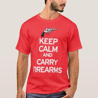 穏やか保ち、火器を運んで下さい Tシャツ