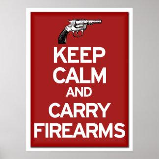 穏やか保ち、火器ポスターを運んで下さい ポスター