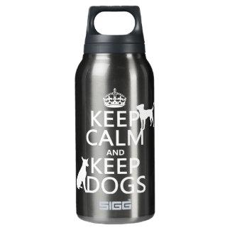 穏やか保ち、犬-すべての色--を飼って下さい 断熱ウォーターボトル