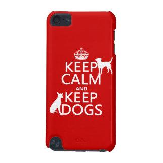 穏やか保ち、犬-すべての色--を飼って下さい iPod TOUCH 5G ケース