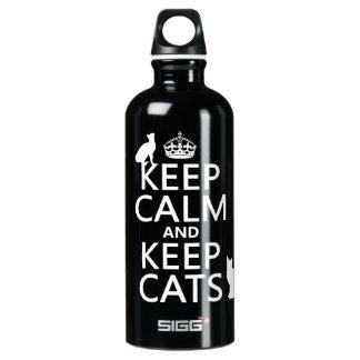 穏やか保ち、猫を飼って下さい ウォーターボトル