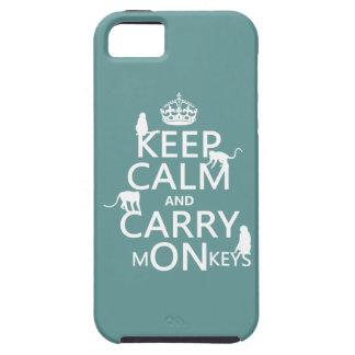 穏やか保ち、猿-すべての色--を運んで下さい iPhone SE/5/5s ケース