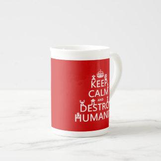 穏やか保ち、破壊して下さい人間性(ロボット)を ボーンチャイナカップ