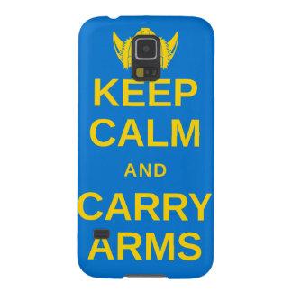 穏やか保ち、腕のスウェーデンのバイキングのギアを運んで下さい GALAXY S5 ケース