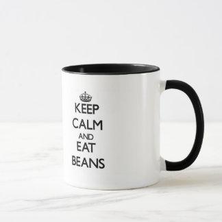 穏やか保ち、豆を食べて下さい マグカップ
