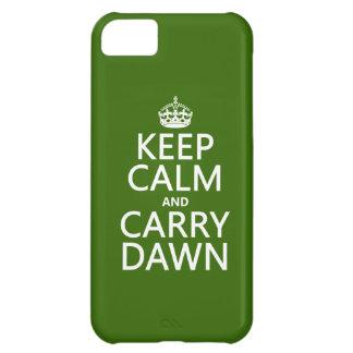 穏やか保ち、運んで下さい夜明け(どの色でも)を iPhone5Cケース