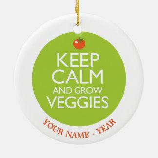 穏やか保ち、野菜2を育てて下さい セラミックオーナメント