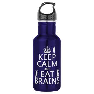 穏やか保ち、食べて下さい頭脳(ゾンビ) (どの色でも)を ウォーターボトル