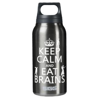 穏やか保ち、食べて下さい頭脳(ゾンビ) (どの色でも)を 断熱ウォーターボトル