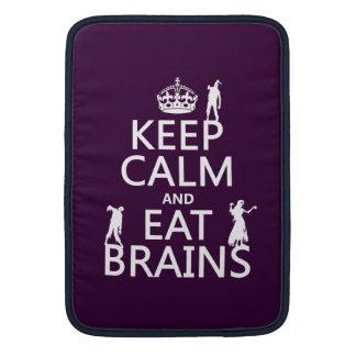 穏やか保ち、食べて下さい頭脳(ゾンビ) (どの色でも)を MacBook スリーブ