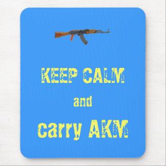 """""""穏やか保ち、AKM""""のmousepadの垂直運んで下さい マウスパッド"""