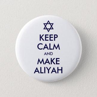 穏やか保ち、Aliyahを作って下さい 5.7cm 丸型バッジ