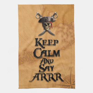 穏やか保ち、ARRRを言って下さい キッチンタオル