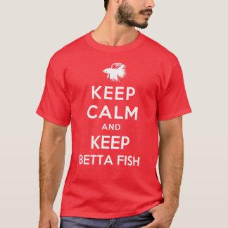 穏やか保ち、Bettaの魚を飼って下さい Tシャツ