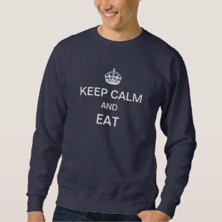 穏やか保ち、Crewneck海軍を食べて下さい スウェットシャツ