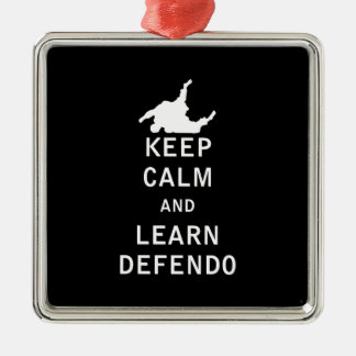穏やか保ち、Defendoを学んで下さい メタルオーナメント