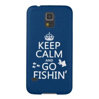 穏やか保ち、Fishinは行って下さい(すべての色で) Galaxy S5 ケース