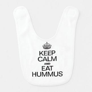 穏やか保ち、HUMMUSを食べて下さい ベビービブ
