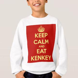 穏やか保ち、kenkeyを食べて下さい スウェットシャツ