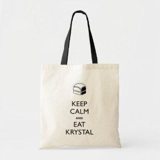 穏やか保ち、Krystalを食べて下さい トートバッグ