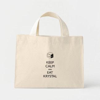 穏やか保ち、Krystalを食べて下さい ミニトートバッグ