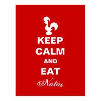 穏やか保ち、natasの郵便はがきを食べて下さい ポストカード