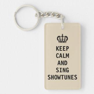 穏やか保ち、Showtunesを歌って下さい キーホルダー