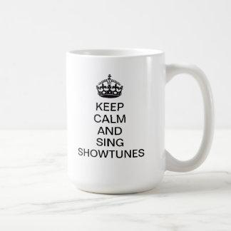 穏やか保ち、Showtunesを歌って下さい コーヒーマグカップ