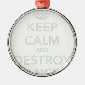 穏やか保って下さい及び蟹座を破壊して下さい メタルオーナメント