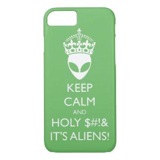 穏やか保てば神聖なS%#tそれはエイリアンです! iPhone 8/7ケース