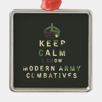 穏やか私知っていますモダンな軍隊Combativesを保って下さい メタルオーナメント