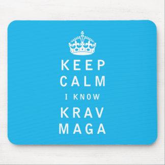 穏やか私知っていますKrav Magaを保って下さい マウスパッド