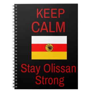 穏やか、滞在のOlissanの強いノート保って下さい ノートブック