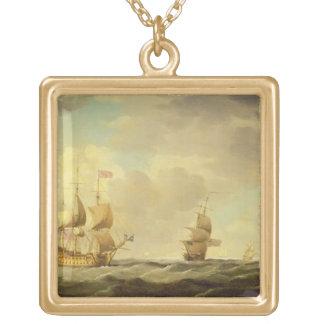 穏健派の容易な帆の下の英国の旗艦 ゴールドプレートネックレス