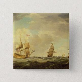 穏健派の容易な帆の下の英国の旗艦 5.1CM 正方形バッジ