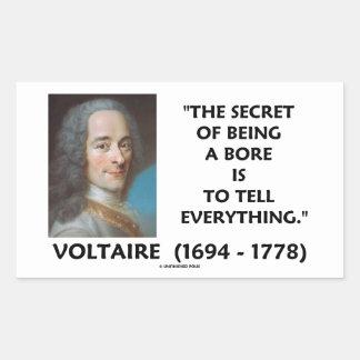 穴であることの秘密はすべてにVoltaireを告げます 長方形シール
