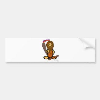 穴居人(ロゴと) バンパーステッカー