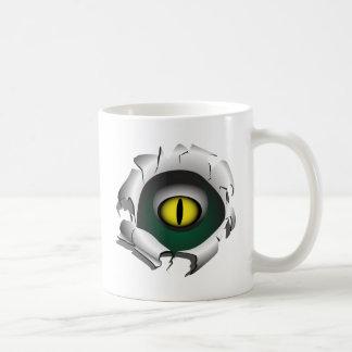 穴、壊れ目。モンスターの目 コーヒーマグカップ