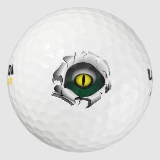 穴、壊れ目。モンスターの目 ゴルフボール