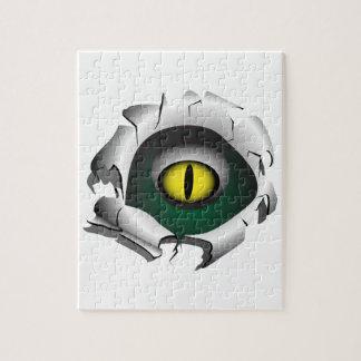 穴、壊れ目。モンスターの目 ジグソーパズル