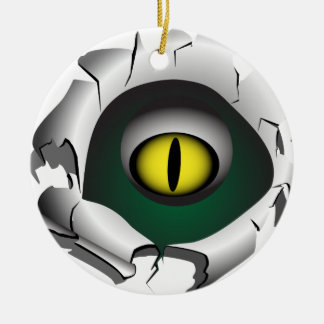 穴、壊れ目。モンスターの目 セラミックオーナメント