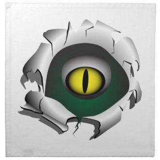 穴、壊れ目。モンスターの目 ナプキンクロス